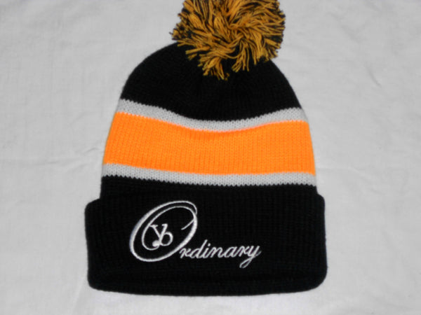 Winter Striped Beanie with Pom (Different Colors Available) - yb Ordinary Clothing