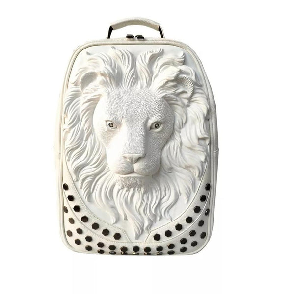 ybOrdinary - 3D Emboss Lion Head Backpack (Different Colors Available)