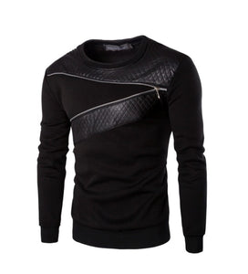 ybOrdinary - Men's Zip Crewneck Sweatshirt