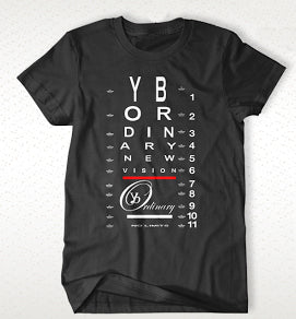 "ybOrdinary - Men's ""Vision Chart"" T-Shirt (Different Colors Available)"