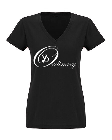 ybOrdinary - Women's Signature Logo V-Neck Baby Doll T-Shirt