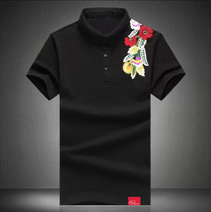 ybOrdinary - Polo w/Floral Embroidery