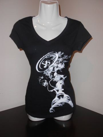 "ybOrdinary- Women's ""Up In Smoke"" V -Neck Baby Doll T-Shirt - yb Ordinary Clothing"