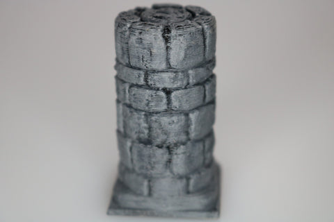 "Dungeon Pillar Short Round 1"" x 1"" (Set of 2)"