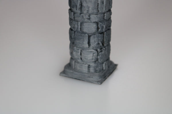 "Dungeon, Pillar Full Round 1"" x 1"" - (Set of 2)"