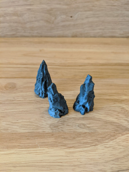 Caverns, Stalagmites - (Set of 3)