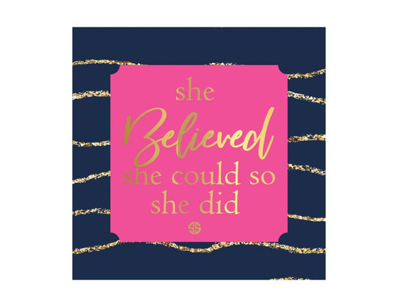 Simply Southern--She Believed She Could Canvas