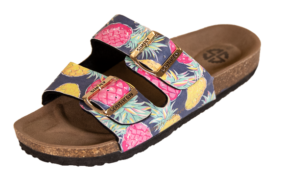 Simply Southern Sandals--Pineapple