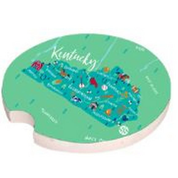 Simply Southern Kentucky State of Mind Car Coaster