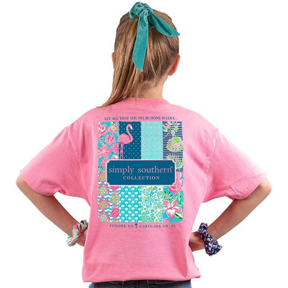 Simply Southern Youth--Preppy Flamingo