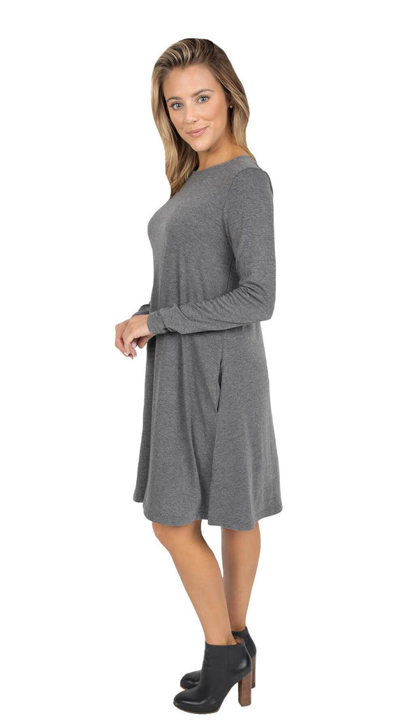Simply Southern Dress--Grey