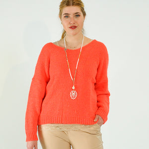 STRICKPULLOVER FLAMINGO