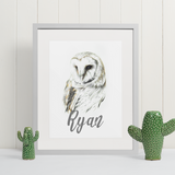 Barn Owl | Personalised by Tup Designs & Wil Shrike