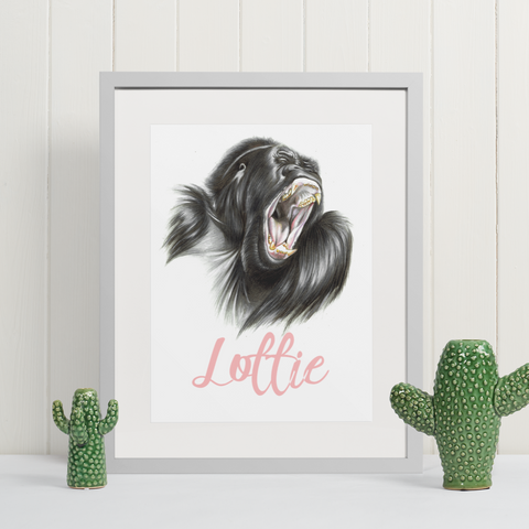 Gorilla | Personalised by Tup Designs & Wil Shrike