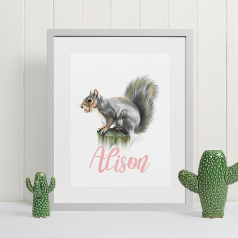 Grey Squirrel | Personalised by Tup Designs & Wil Shrike