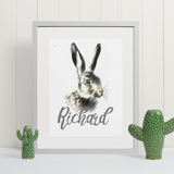 Hare | Personalised by Tup Designs & Wil Shrike