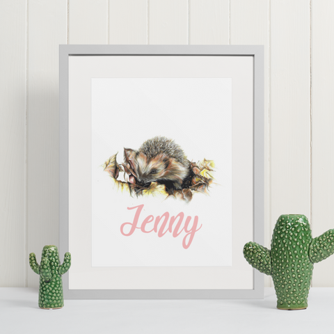Hedgehog | Personalised by Tup Designs & Wil Shrike