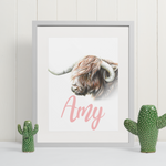 Highland Cow | Personalised by Tup Designs & Wil Shrike
