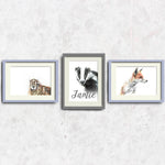 Personalised Print Set of 3 | No2 by Tup Designs & Wil Shrike