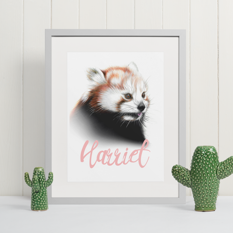 Red Panda | Personalised by Tup Designs & Wil Shrike