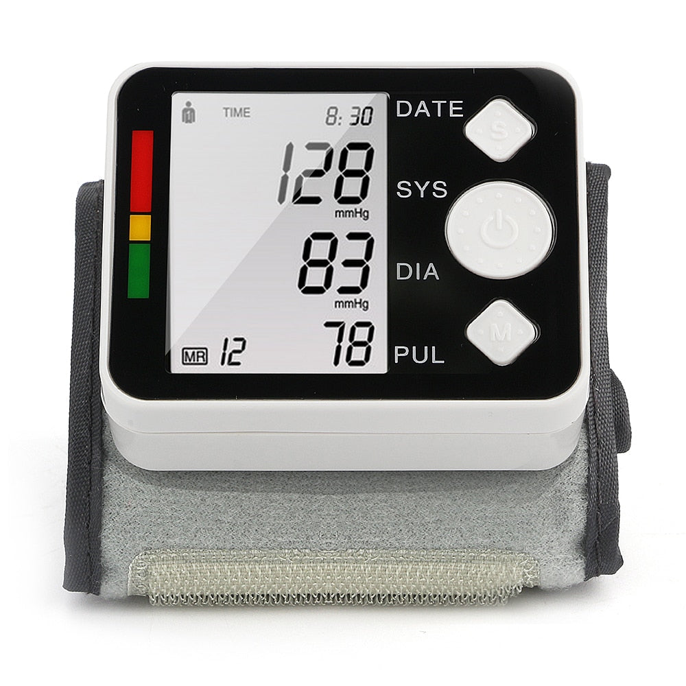 Wrist Blood Monitor LCD Digital Meter Cuff