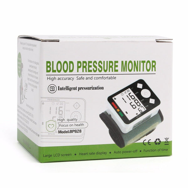 Blood Pressure Monitor, LCD Digital Meter-Wrist Cuff