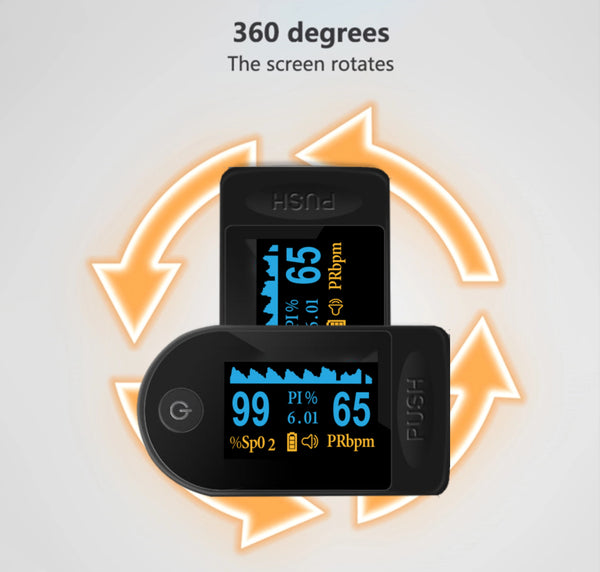 Fingertip Oximeter for blood oxygen levels and heart rate.