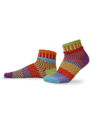 Mismatched Quarter Socks - Cosmos
