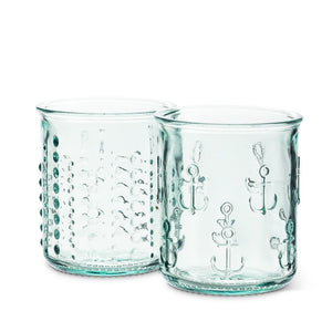 Recycled Glass Short Anchor Tumblers