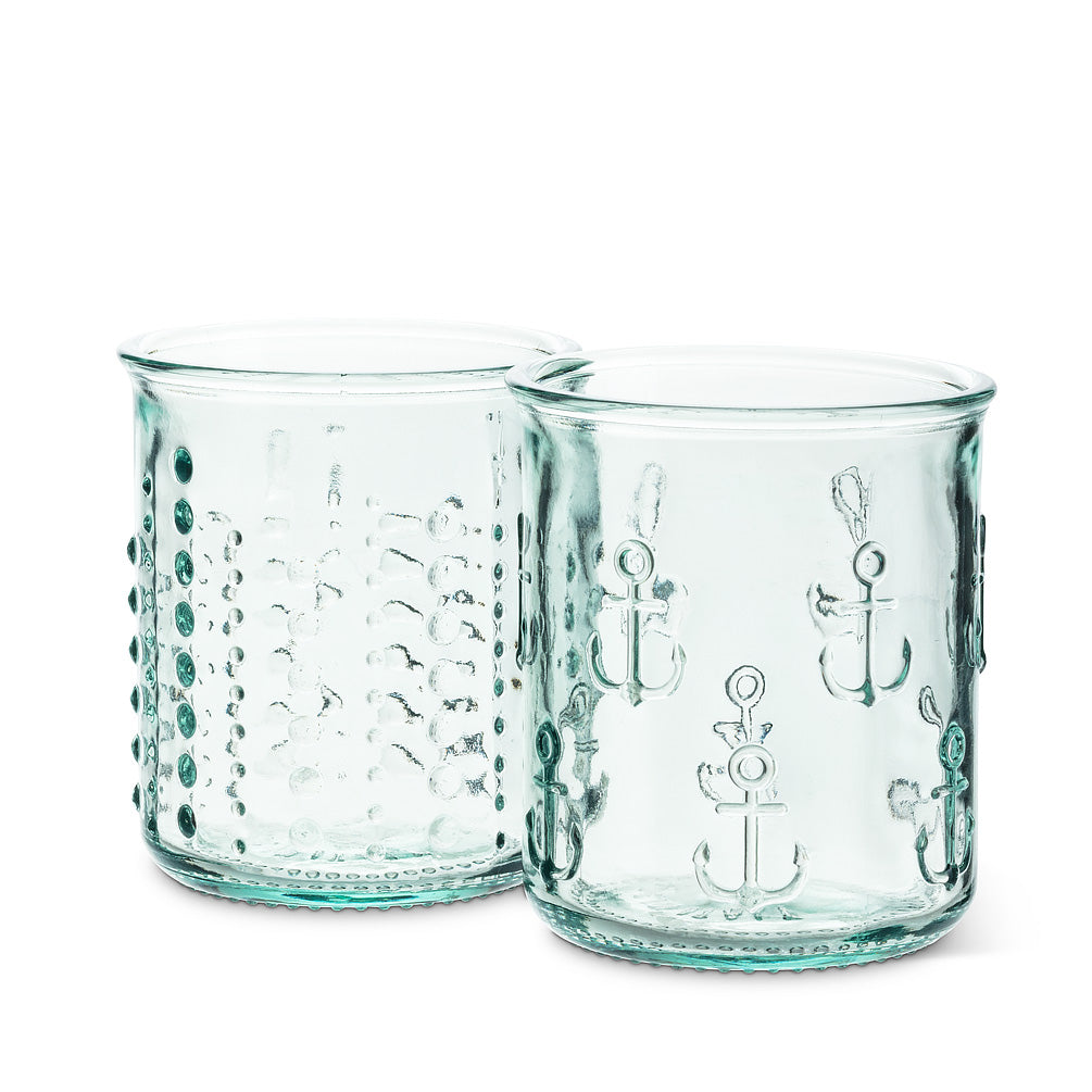 Recycled Glass Short Sea Urchin Tumblers