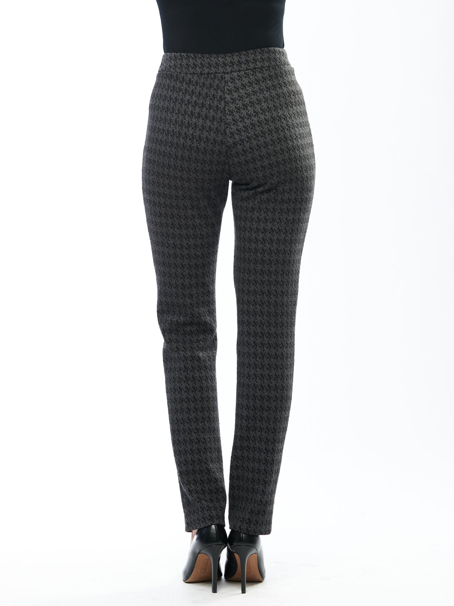 Avery Pull On Bamboo Pant - Houndstooth