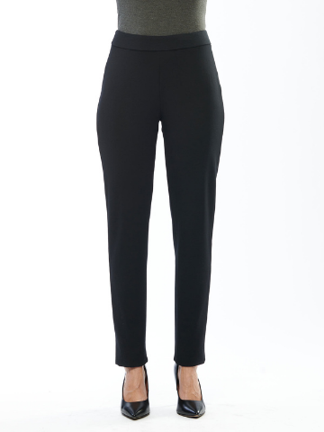 Avery Pull On Bamboo Pant - Black
