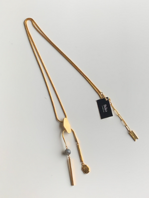 Biko Long Gold Necklace