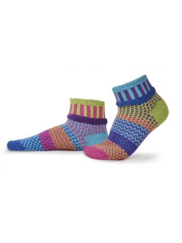 Mismatched Quarter Socks - Bluebell