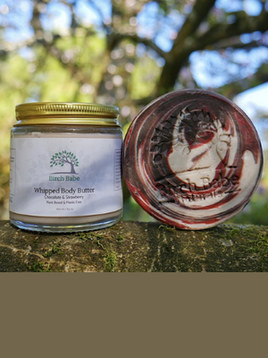 Chocolate and Strawberries Body Butter and Body Bar Gift Set
