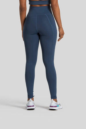 Pocket Legging in Steel Blue