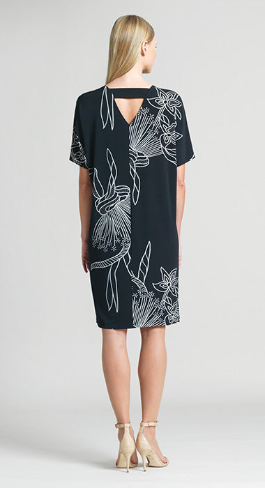 Back Cross Bar Shift Dress