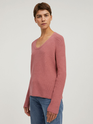DENAA Organic Cotton Knit Sweater - Cinnamon Rose