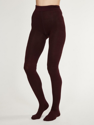 Elgin Opaque Bamboo Tights - Fig