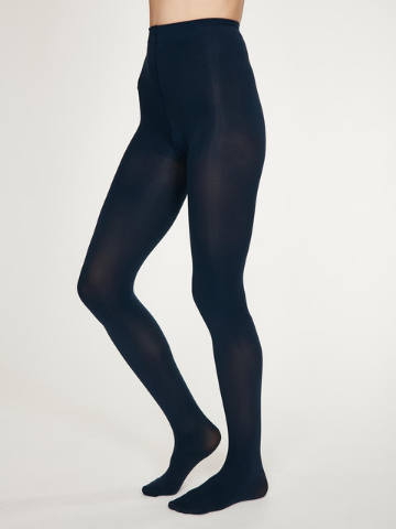 Elgin Opaque Bamboo Tights - Navy