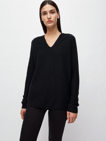 Faarina Organic Cotton Pullover - Black