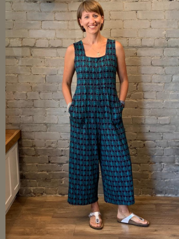 Gemma Jumpsuit - Teal pattern