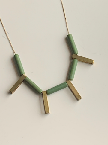 Olive Green Statement Necklace