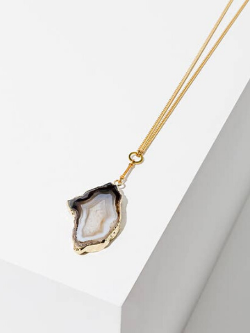 Golden Druzy Necklace - Long