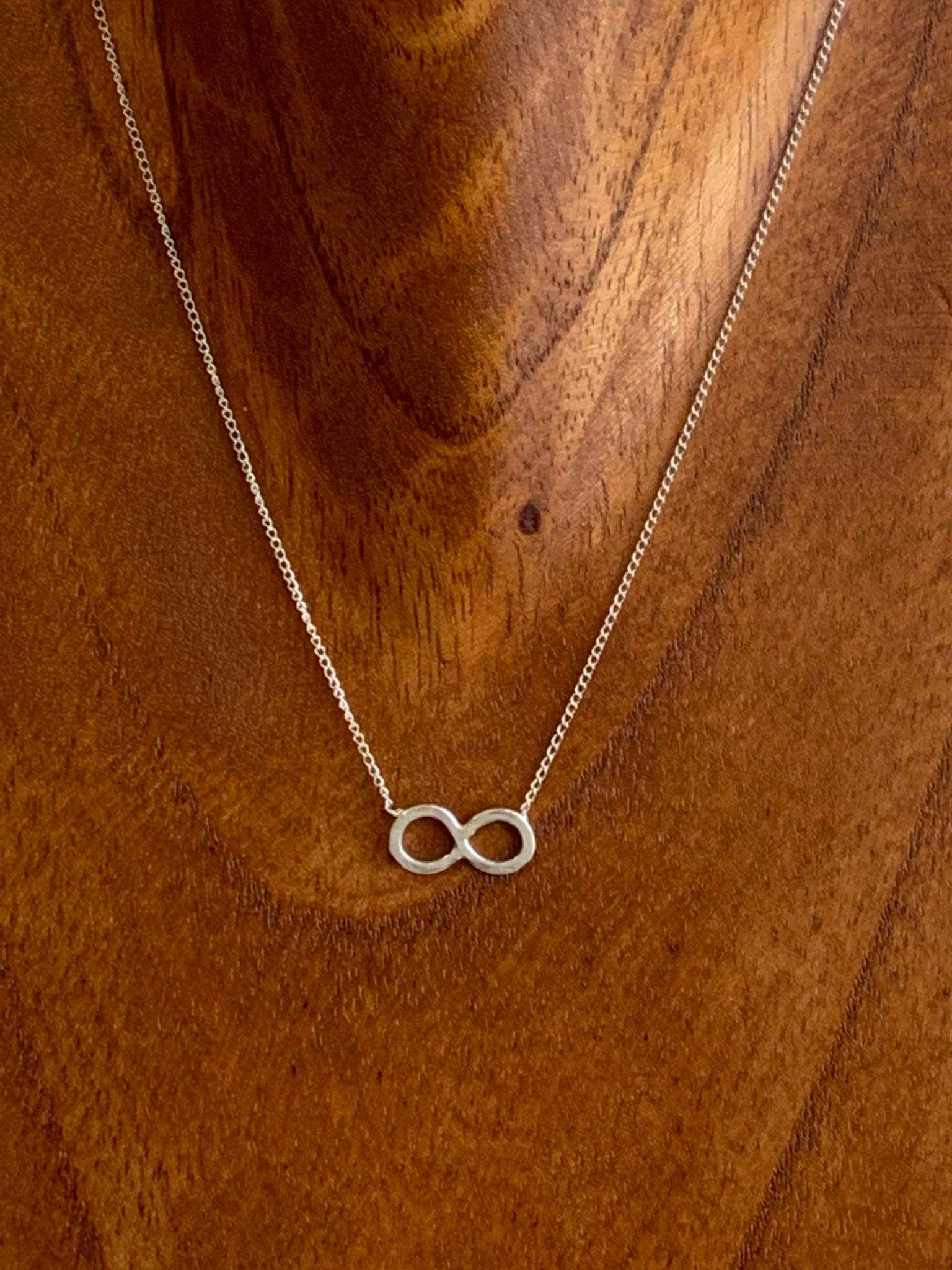Eternity Recycled Sterling Silver Short Necklace
