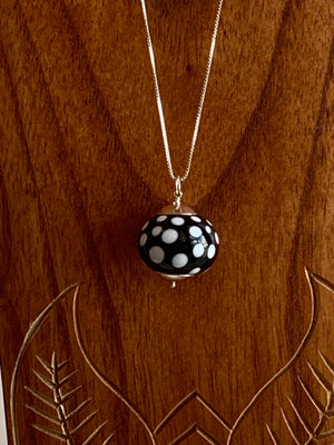 Spotted Glass Bauble Long Necklace