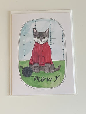 Cat Mothers Day Charity Greeting Card