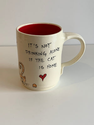 Cat Quotes Charity Mug - Red