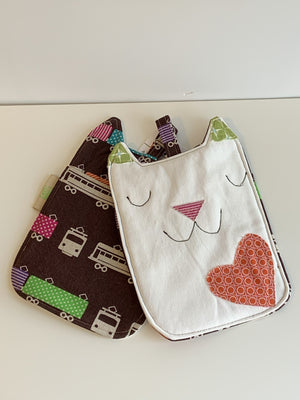 Zero Waste Charity Oven Mitts - Happy Cats