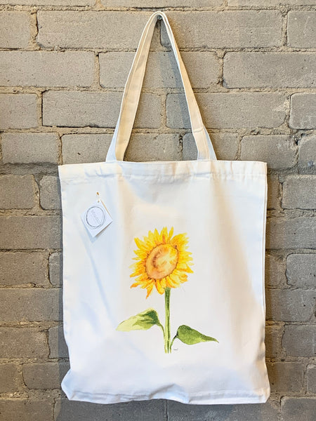 Reusable Art Market Tote - Sunflower